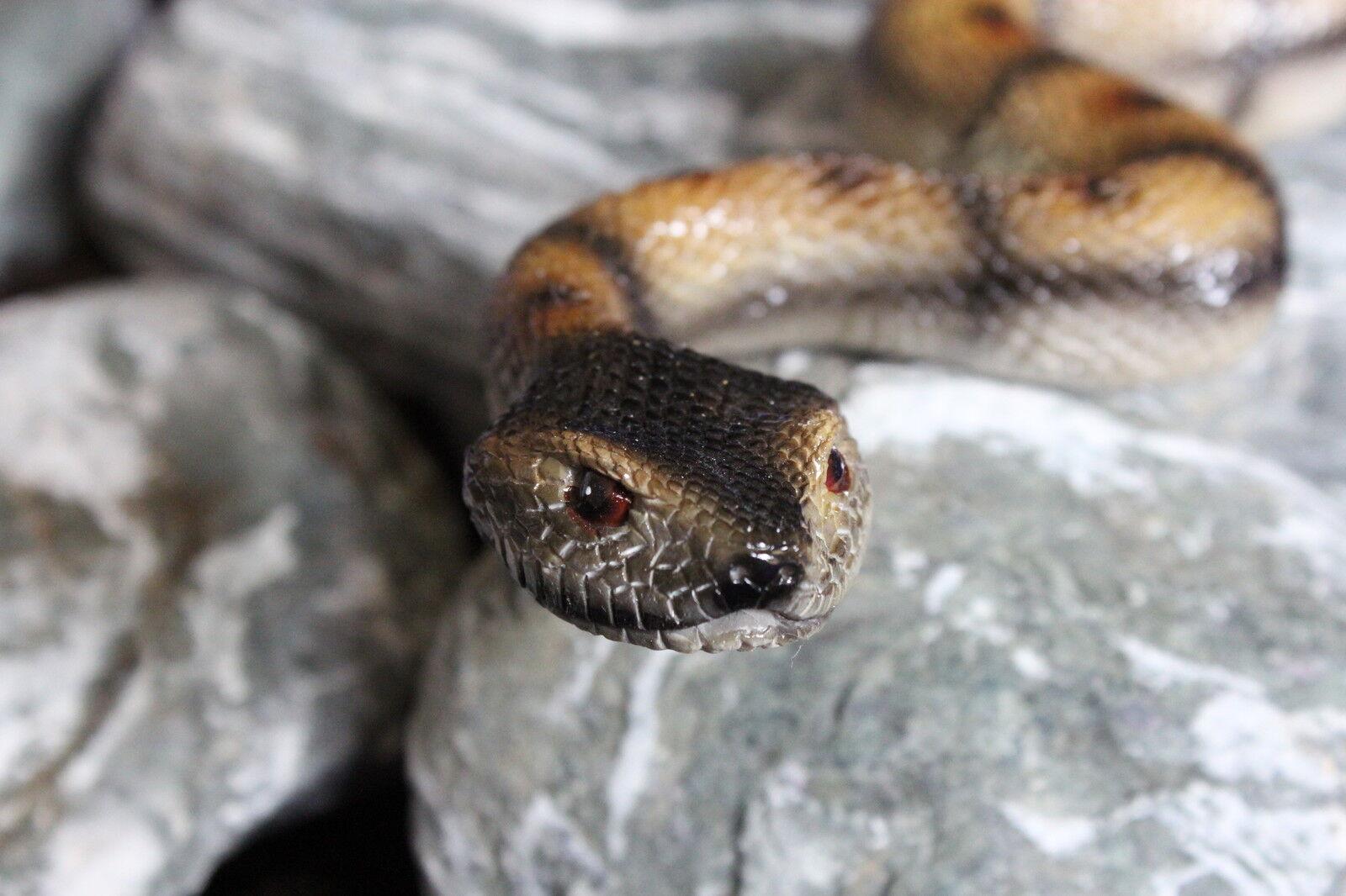 Gartenfigur Schlange Teichfigur Gartendeko Teichdeko Tier Reptil ...