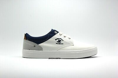 Boat Clubhouse - NEW MENS BEVERLY HILLS POLO CLUB ERIC NAVY WHITE CANVAS BOAT SHOES LACE UP SHOES