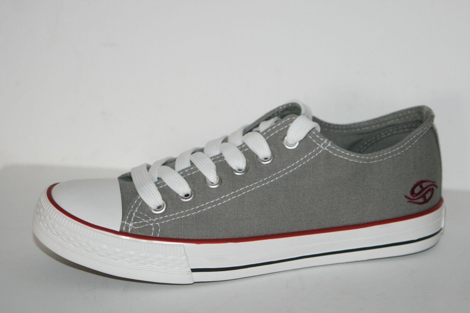 Dockers sportliche Damen Sneakers grau Schuhe Turnschuhe Stoffschuhe Canvas