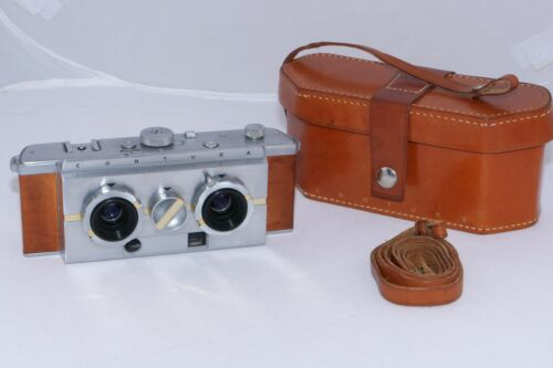 Contura Stereo Camera. Very rare 130 ever made vintage 3D camera. Original Case.
