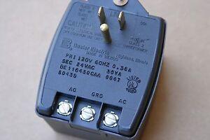 24VAC 30VA Plug-In Power Transformer (w/ground) Mfr: Basler Electric-IL.