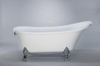 1001NOW Cesano Freestanding Seamless Acrylic White Luxurious 63