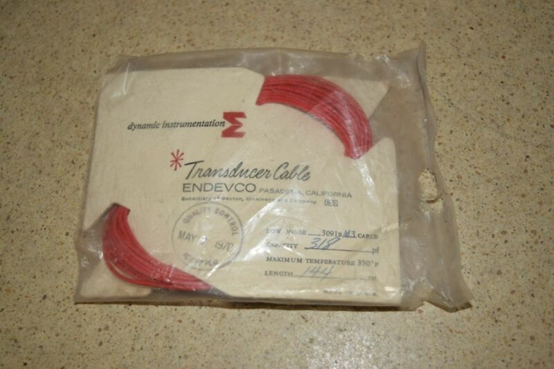 """ENDEVCO 3091B- 144"""" - 318pF- - 500?F ACCELEROMETER CABLE- NEW (#42)"""