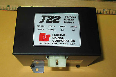 J22hp Federal Strobe 6.5 Amp Power Supply 12vdc New Old Stock