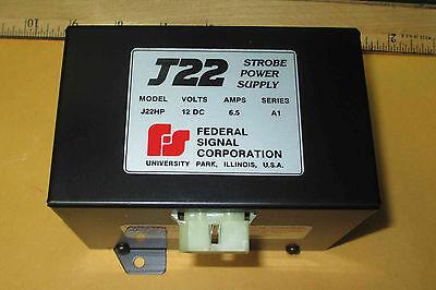 J22hp Federal Strobe 6.5 Amp Power Supply 12vdc New Old Stock