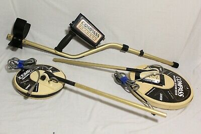 """Compass Gold Scanner Pro Metal Detector 8"""" & 12"""" Coils RARE"""
