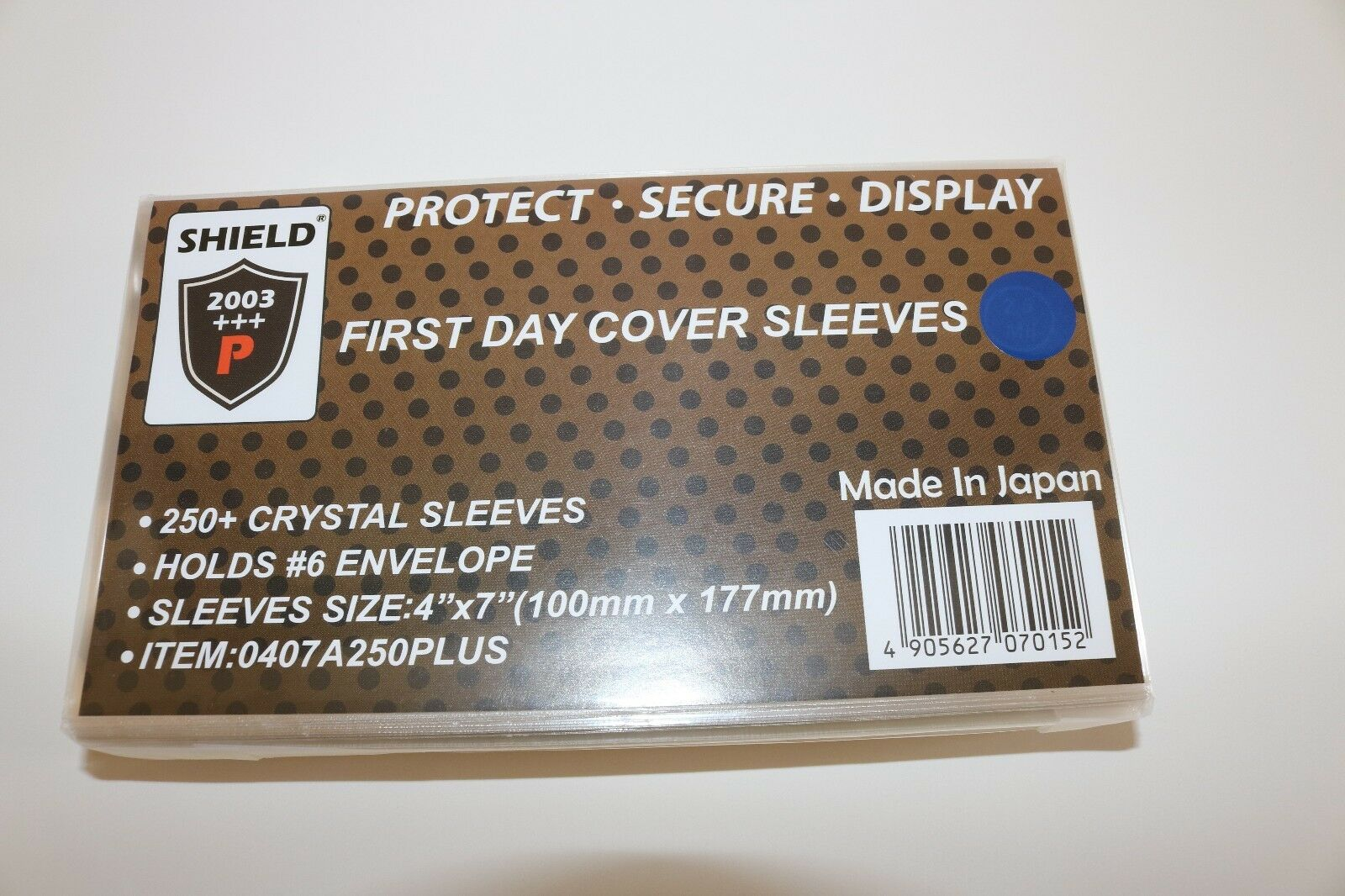 """SHIELD 500 Crystal Sleeves for #6 Envelope, Cover, FDC 4"""" x 7""""  Free Shipping.."""