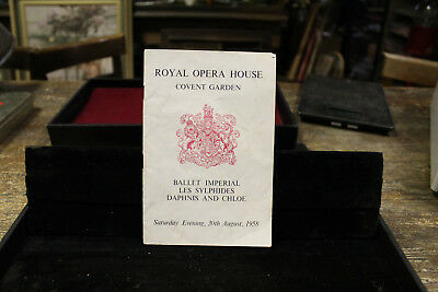 Ballet Imperial Les Sylphides Royal Opera House Covent Garden 30th August 1958
