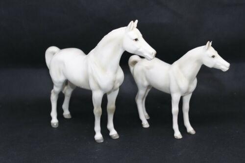 Set of 2 Shafford Japan Ceramic Glazed Horse Thoroughbred Arabian Figurine