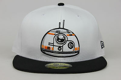 Star Wars Original Trilogy Bb8 Logo White Black New Era 59Fifty Fitted Hat Cap