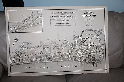Mueller Map Atlantic County & City Egg Harbor Absecon Island Beaches New Jersey