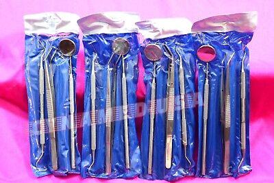 German 15 Instruments Basic Dental Set Mirror Explorer Probe Pliers 5 Of Each