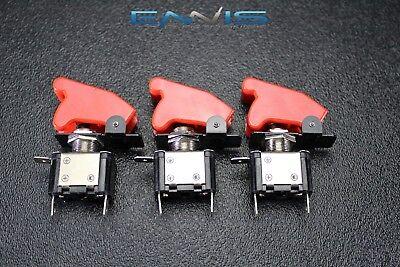 3 Pcs Toggle Switch On Off Rocker Red Led 12v 20 Amp Race Nitrous Eps-3015rd