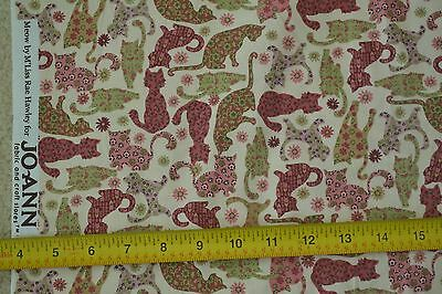 By The Half Yard  43  Wide  Calico Cats On Cream Quilters Cotton  Joann  M6450