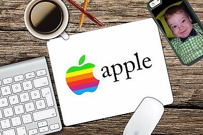 Vintage Apple Rainbow Apple Retro Logo Mac Mouse Pad Mousepad Home Office for sale  Shipping to India