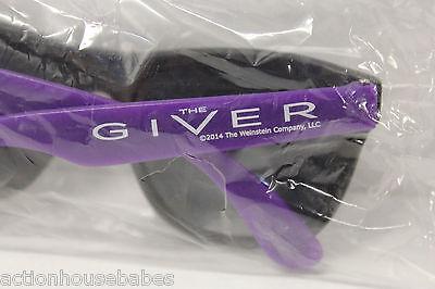 The GIVER - Movie PROMO Sunglasses - BLACK / PURPLE - Thwaites - Bridges - NEW