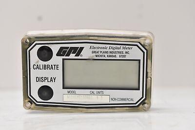Gpi Electronic Digital Meter Flowmeter Cal. Units 5 A104gms100na1