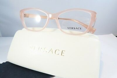 Versace MOD 3236-A 5218 Pink Tips New Authentic Eyeglasses 54mm Case