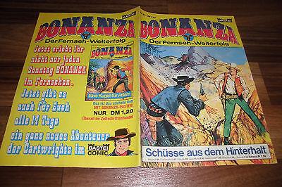 BONANZA # 28 -- SCHÜßE aus dem HINTERHALT // mit Bonanza-Poster 1. Auflage 1973