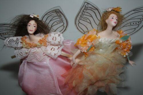 """PIPER & ECHO porcelain angel dolls Destiny Dolls Made in Thailand 7"""" NIB"""