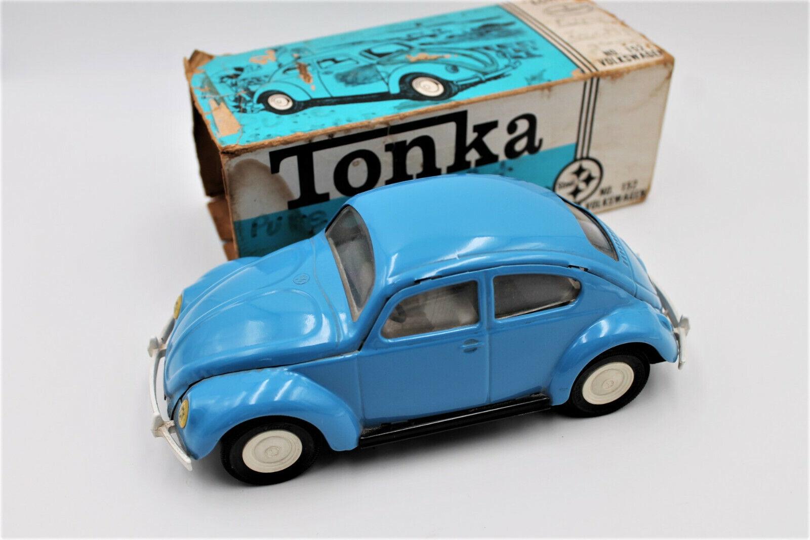 Rare Vintage 1960s Tonka Volkswagen Kafer Beetle Pressed Steel VW Toy W/ Box - $135.50