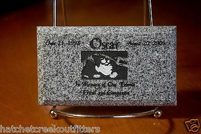 "Custom Pet Memorial Grave Marker 5""x3"" Headstone Stone Plaque Dog Cat Bunny Bird"