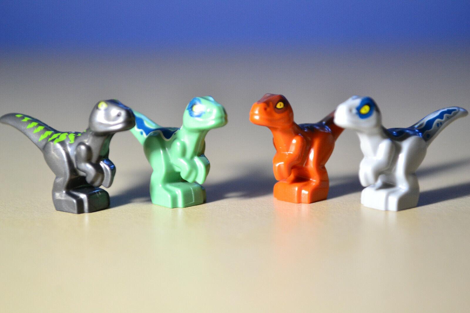 Lego Baby Dino Jurassic World Baby Raptors Dinosaurs Lot Of 4 - $13.95