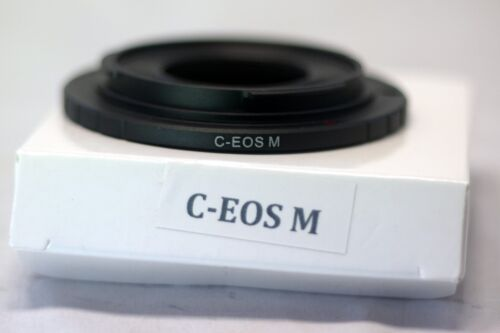 Cinema C Mount Lens to Canon EOS M EF-M Mirrorless Camera Adapter Ring M M2 M10