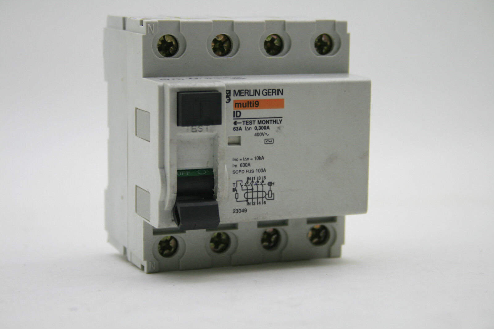 diferencial 4p 63a instantaneous rcd 300ma multi9 merlin