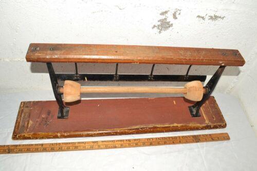 Antique/Vtg Cast Iron Paper Roll  Dispenser Holder Cutter Country General Store