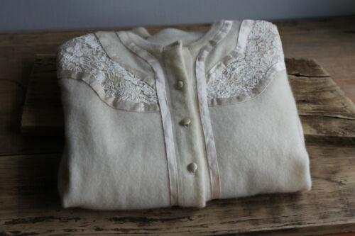 Vintage Edith Salzman Cashmere Cardigan size small 1950s