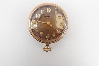 RARE ANTIQUE 1920s WALTHAM WATCH 8 DAY CAR AUTOMOBILE CLOCK