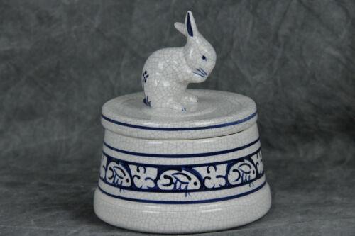 Dedham Potting Shed Bunny Rabbit Jar with Lid Pottery (SH5850)