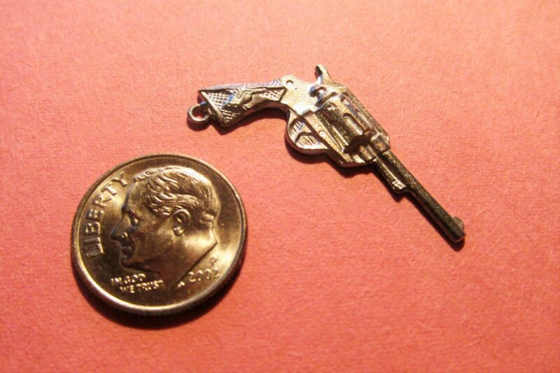 Twenty  Pewter  Pistol Gun Charms