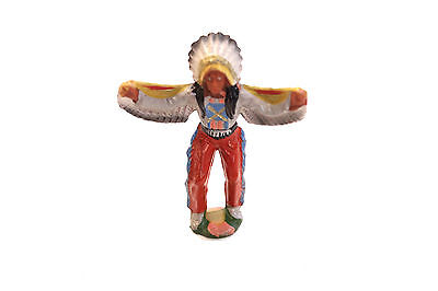 kleine Indianerfigur aus Gummi (DDR)