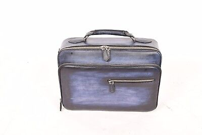 terse berluti style hand patinated vegetable tanned leather laptop briefcase bag