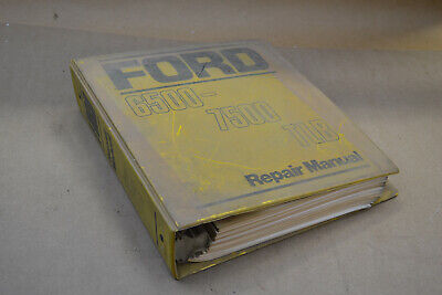 Original Ford 6500 7500 Tlb Repair Manual Tractor Loader Backhoe