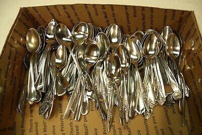 50 Teaspoon Lot Stainless Flatware Good Restaurant Quality