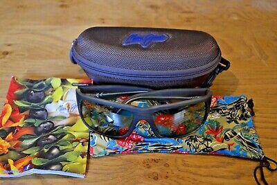 Cased Olive Maui Jim Fives Caves Sunglasses; Polarised Plus2 Lenses