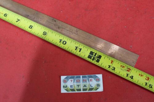 "1/4"" x 3/4"" C110 COPPER BAR 14"" long Solid Flat Mill Bus Bar Stock H02 99.9% CU"