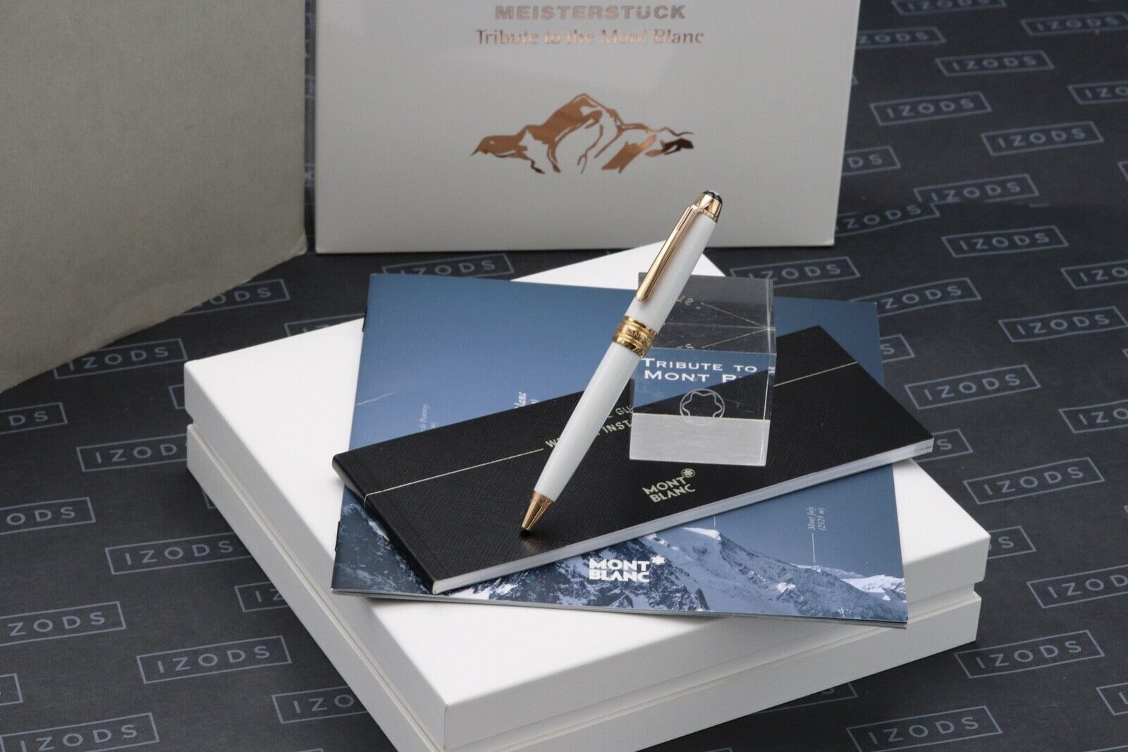 Montblanc Meisterstuck Mozart Tribute Red Gold Solitaire Ballpoint Pen - UNUSED