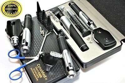 Cynamed Premium Fiber Optic Mini Otoscope Opthalmoscope Diagnostic Set Ent