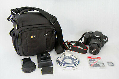 Canon EOS Rebel T5 18MP Digital SLR Camera Bundle w/ IS STM 18-55mm bag CPL batt