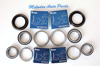 KOYO Front Wheel Bearing (2 Inner & 2 Outer) W/Seal Set For NISSAN PATHFINDER Front Seal Set