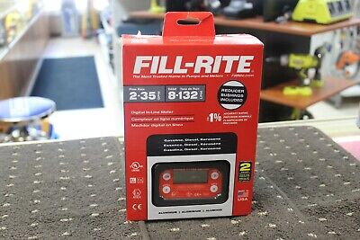 Fill-rite 2-35gpm Aluminum Gasoline In-line Digital Meter Tt10an-npt Brand New