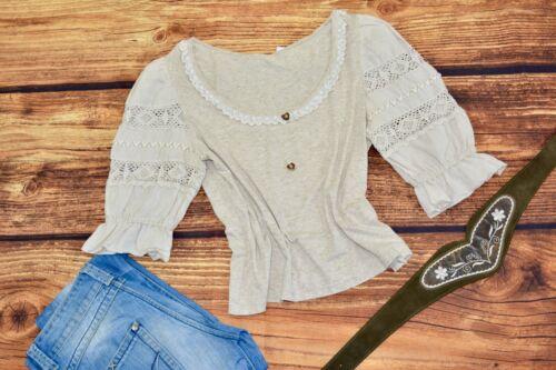 Dirndl blouse Traditional Bavarian blouse Oktoberfest blouse Size L