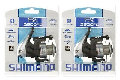 b9dbc8f0bd0 (2) Shimano FX 2500FB Spinning Fishing Reel Ratio: 4.6:1 Brand New In Pack