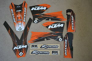 FLU-DESIGNS-PTS-TEAM-KTM-GRAPHICS-SXF-MXC-SX-EXC-XC-XCF-2005-2006-2007