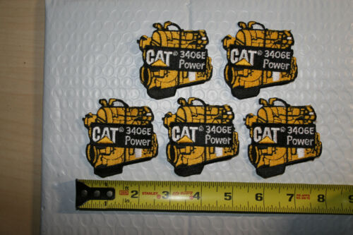 "2 New CAT Caterpillar 3406E Power Engine Shirt Patches size 2 1/2"" x 2 1/2"""