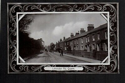 Quorn - Leicester Road - south of Loughborough - real photographic postcard